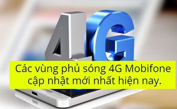 Các vùng phủ sóng 4G Mobifone cập nhật mới nhất hiện nay.
