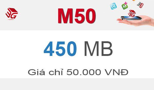 Hướng dẫn đăng ký gói M50 Mobifone chỉ 50.000đ/tháng có ngay 450MB