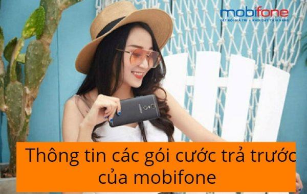 Thông tin các gói cước trả trước của mobifone