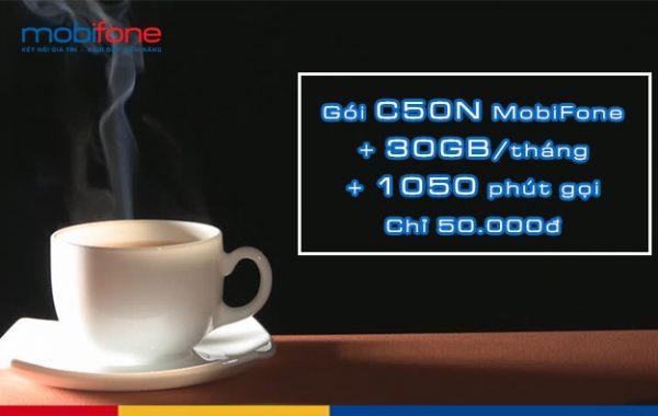 Hòa mạng mới nhận ngay gói C50N Mobifone chỉ 50k có data thoải mái