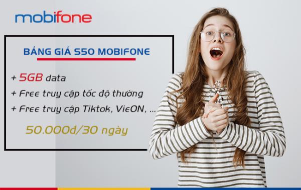 Đăng ký gói cước đặc biệt S50 Mobifone chỉ với 50k có data thỏa thích