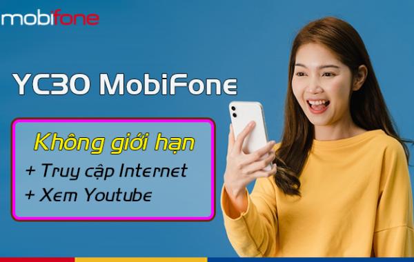 Youtube thả ga không sợ hết dung lượng với gói YC30 Mobifone
